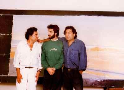 علی گلستانه (سمت راست)، مصطفی دشتی(سمت چپ)