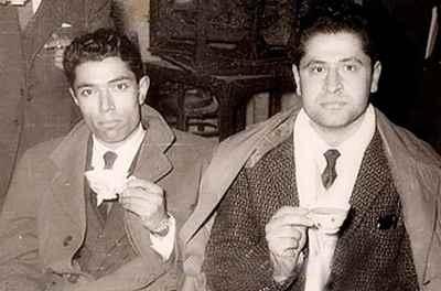 از راست: پرویز بهرام، علی نصیریان