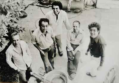 از راست: غلامحسین نامی، سیراک ملکنیان، مسعود عربشاهی، عبدالرضا دریابیگی، مارکو گریگوریان
