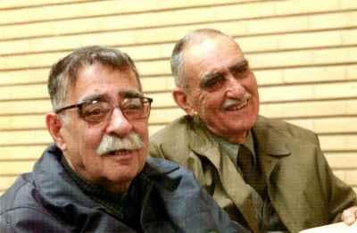 از راست: ایرج افشار، عبدالله انوار