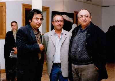 از راست: بهمن فرمان آرا، نصیری، مصطفی دشتی