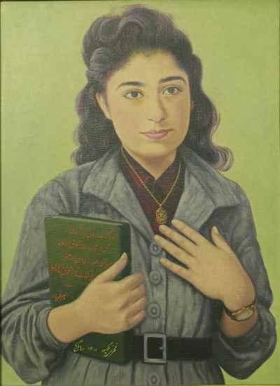 نقاشی فخری ملک پور در سن 16 سالگی