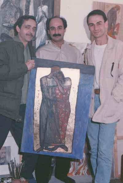 از راست: حمید کریمی، محمد حسین ماهر، شاهرخ غیاثی- سال 1374