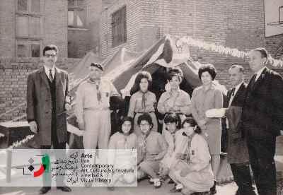 فریدون جنیدی در سازمان پیشاهنگی منظریه تهران