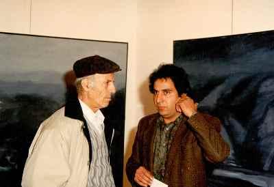 از راست: مصطفی دشتی، حسین ابوالحسنی