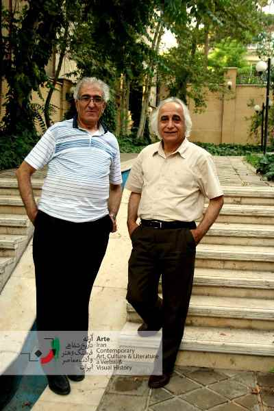 محمد شمس لنگرودی و احمد پوری