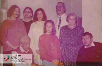 فریدون جنیدی به همراه خانواده مهندس زارع