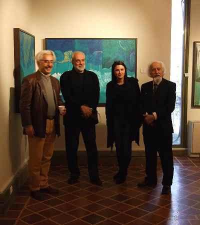 از راست: حسین محجوبی، شیرین پرتوی ، آیدین آغداشلو، علی فرامرزی