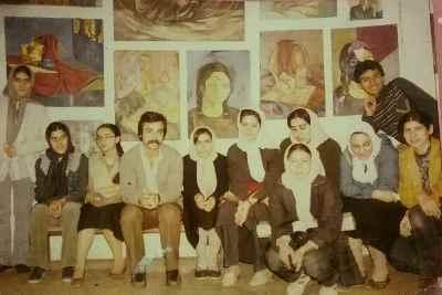 از راست: آریا اقبال، نصرت الله مسلمیان (نفر سوم و چهارم از چپ) - تالار نقش