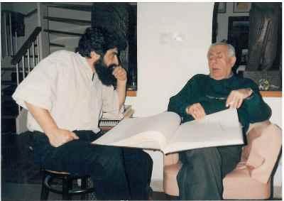 از راست: بهمن محصص، بهرام دبیری