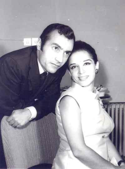 ایران درودی و همسرش پرویز مقدسی