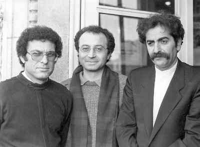 از راست: شهرام ناظری، داریوش طلایی، بیژن کامکار - هزاره حافظ مقر یونسکو