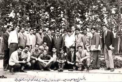 عبدالله انوار (در وسط عکس) - دانشسرای تربیت معلم - پس از کنفرانس درباره منطق ریاضی - سال1348
