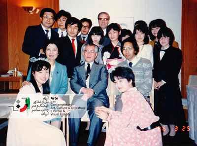 با دانشجویان دانشگاه مطالعات خارجی توکیو( استادان و دانشجویان )