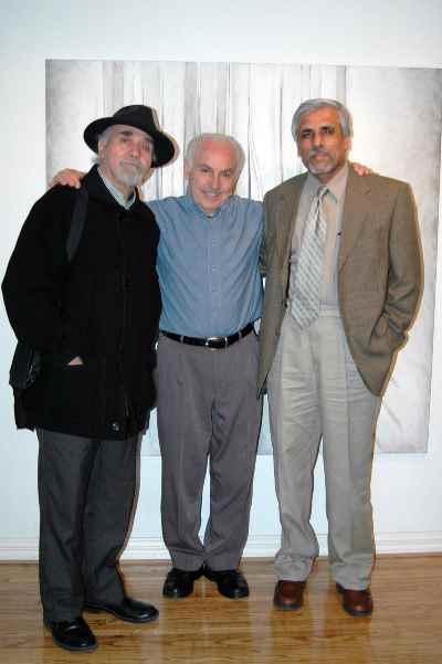 از راست: حسن زرهی، سیراک ملکنیان، رضا براهنی