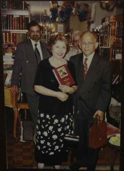 فخری ملکپور به همراه فریدون مشیری