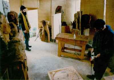 از راست: سعید شهلاپور، بهرام دبیری
