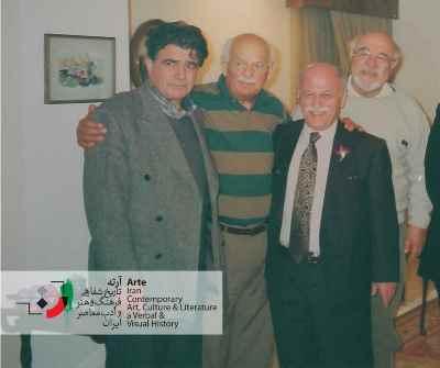 فخرالدین فخرالدینی به همراه علی هاشمی و محمدرضا شجریان