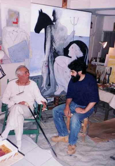 از راست: بهرام دبیری، بهمن محصص