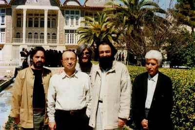 از راست: کیانی، بیانی، داریوش طلایی، حسین علیزاده