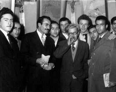 صادق تبریزی (نفر چهارم از چپ)