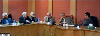 از راست: محمدرضا شجریان، مصطفی کمال پورتراب، فرهاد فخرالدینی ، محمد سریر، داوود گنجه ای
