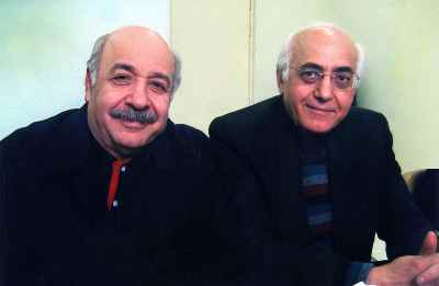 از راست: محمد سریر، داوود گنجه ای