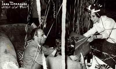 ایران دررودی و استاد چاپلین میدی در مدرسه بوزار پاریس- سال 1955