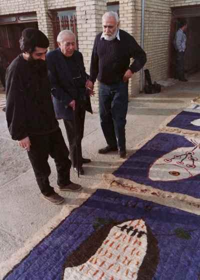 از راست: سيروس طاهباز، بهمن محصص، بهرام دبیری