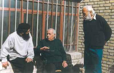 از راست: سيروس طاهباز ، بهمن محصص، بهرام دبیری