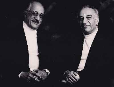 از راست: فرامرز پایور، عبدالوهاب شهیدی