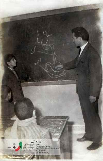 احمد پوری در کلاس ششم ابتدایی دی ماه ۱۳۴۳