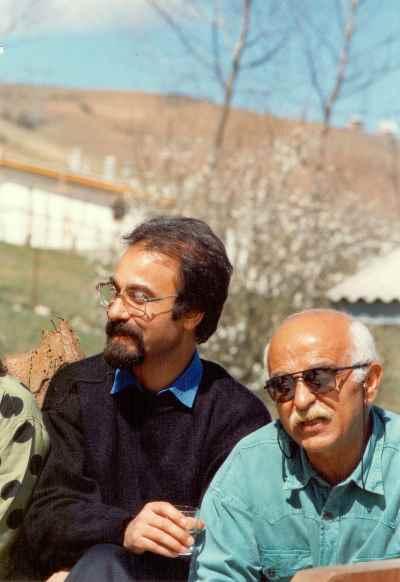 از راست: سعید شهلاپور ، نصرت الله مسلمیان