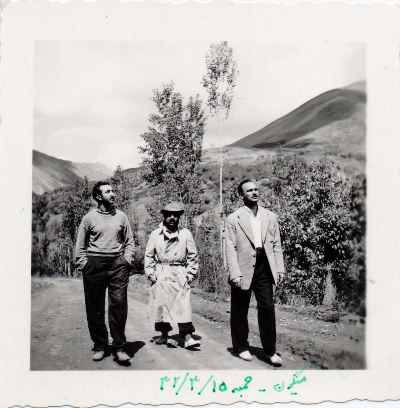 عبدالله انوار در وسط تصویر - میگون - سال1332