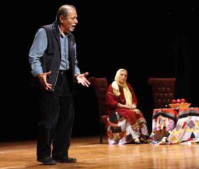 محبوبه بیات ، علی نصیریان - نمایش بازیگر و زنش، نویسنده: علی نصیریان، کارگردان:  محسن معینی