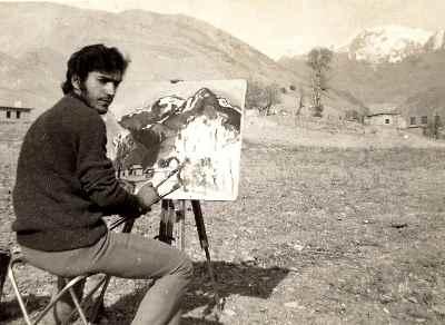 علی فرامرزی  در دوران جوانی- سال 1348