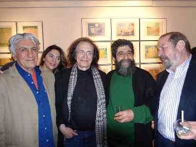 از راست: ناشناس، بهرام دبیری، واحد خاکدان، رضا کیانیان