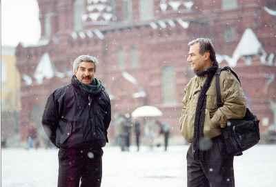 از راست: حسین زندباف، یدالله صمدی