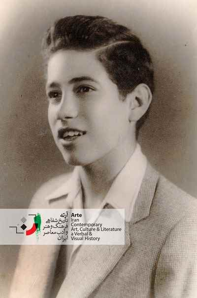 ایرج پارسی نژاد در سن ۱۲ سالگی