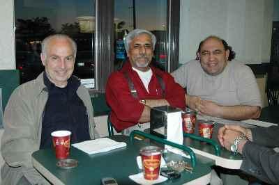 از راست : لوان هفتوانی، حسن زرهی، سیراک ملکنیان