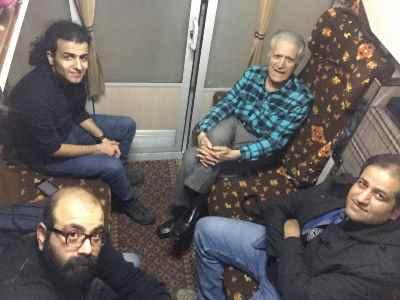 از راست: علی صمدپور، احمدپژمان، امیر بهاری، محمودرضا نوربخش