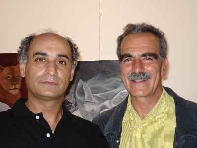 از راست: بهمن بروجنی، محمد حسین ماهر- سال 1387