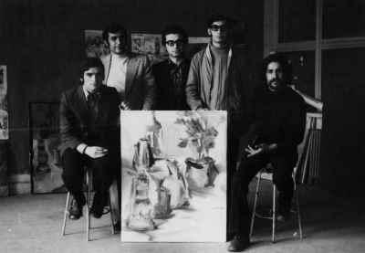 از راست: ناژفر، مظهری، داریوش طلایی، دلشب، حسین علیزاده