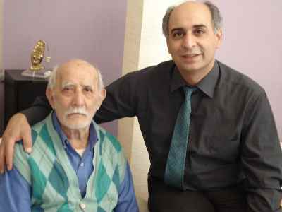 محمد حسین ماهر با پدر