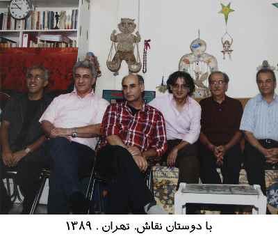 از راست: ناشناس، پرویز حبیب پور، خسرو خسروی، حسین ماهر، ناشناس، جمشید حقیقت شناس - سال 1389