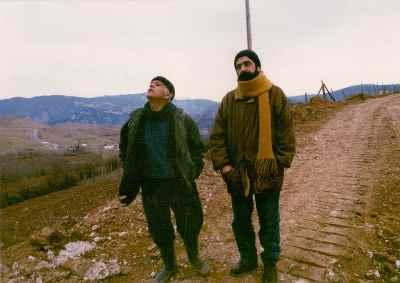 از راست: بهرام دبیری، سعید شهلاپور