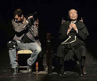 علی نصیریان، شهاب حسینی - نمایش اعتراف، کارگردان: شهاب حسینی