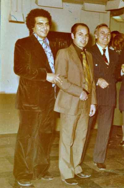 از راست: مارکو گرگوریان، سیراک ملکنیان، مسعود عربشاهی- تهران - سال 1975