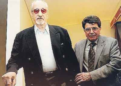 از راست: محمدرضا شجریان، عبدالوهاب شهیدی