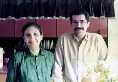 رزیتا شرف جهان به همراه همسر